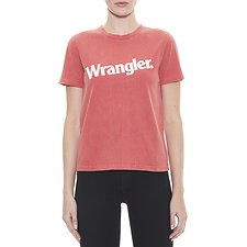 Image of Wrangler Faded Red  Uptown Logo Tee Faded Red