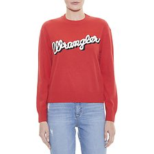 Image of Wrangler Vintage Red Maggie Sweater Vintage Red