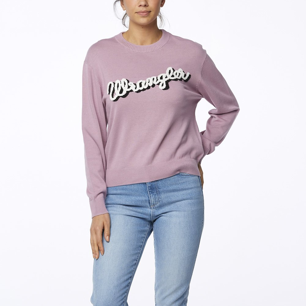 Image of Wrangler Lilac Maggie Sweater Lilac