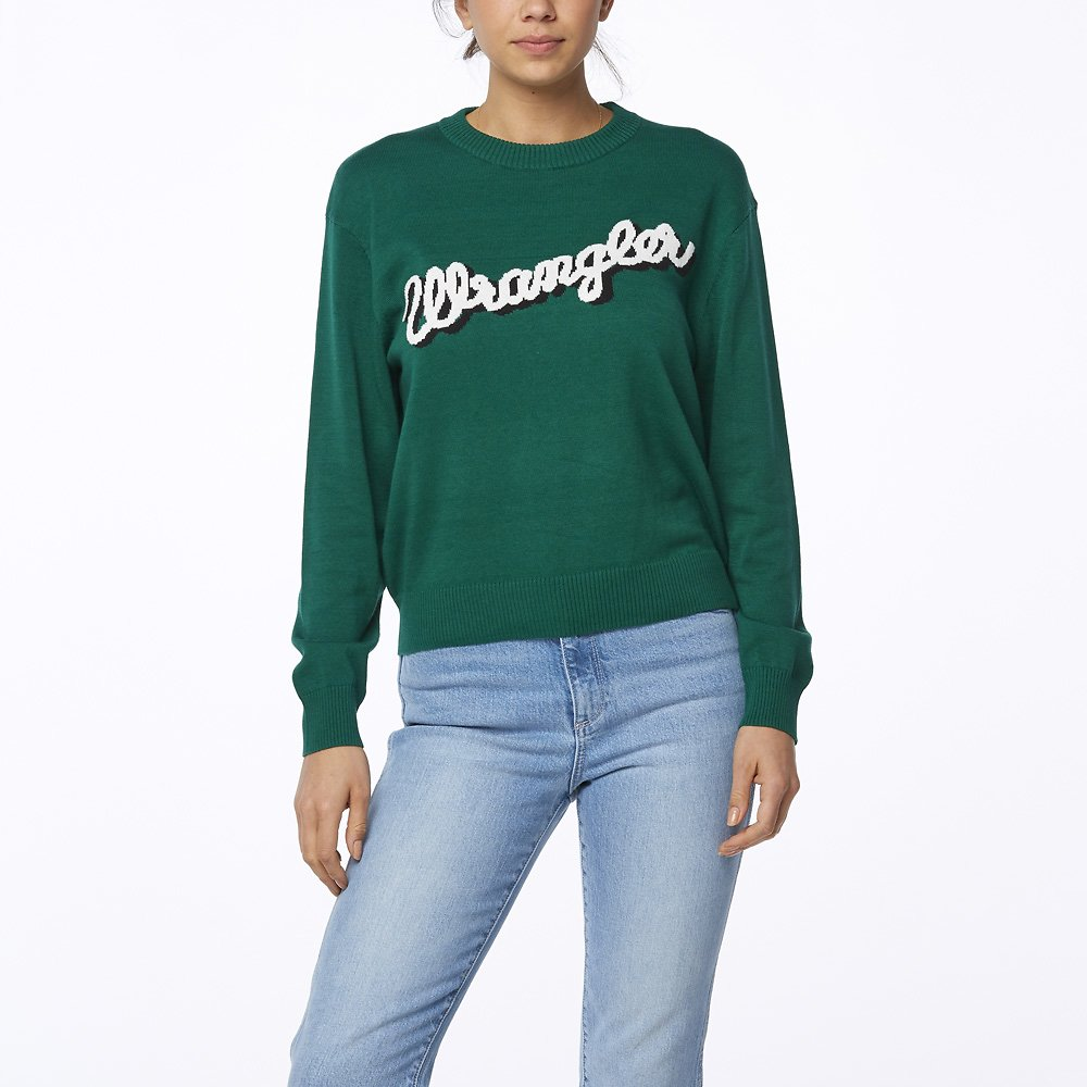Image of Wrangler Green Blue Maggie Sweater Green