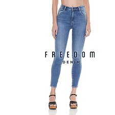 Picture of Hi Pins Cropped Jean 1982 Blue
