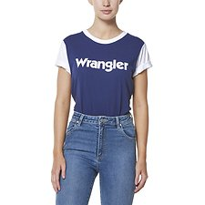 Image of Wrangler Navy/White Rookie Tee Navy/White