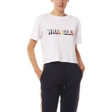 Image of Wrangler White Team Crop Tee Team White