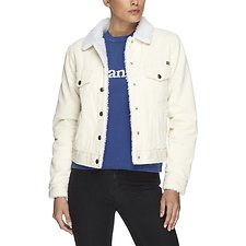 Image of Wrangler Chalk Dusk Sherpa Jacket Chalk