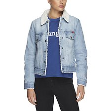 Picture of Denim Sherpa Jacket Blue Stone