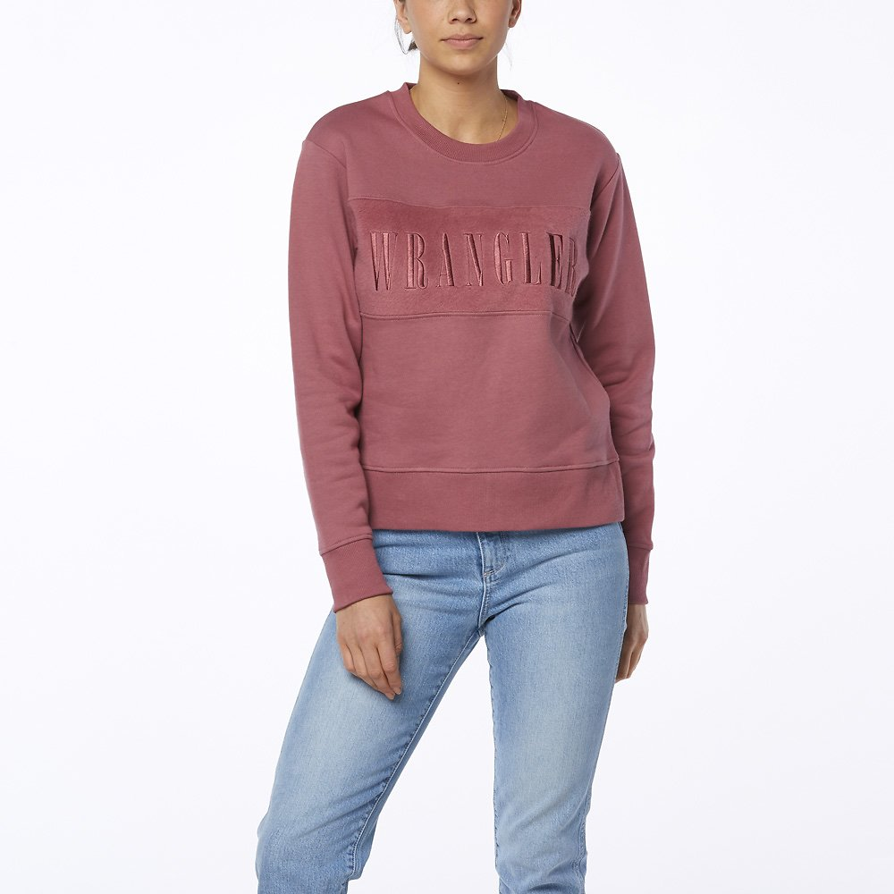 Image of Wrangler Plum Pink Supersize Fleece Plum Pink