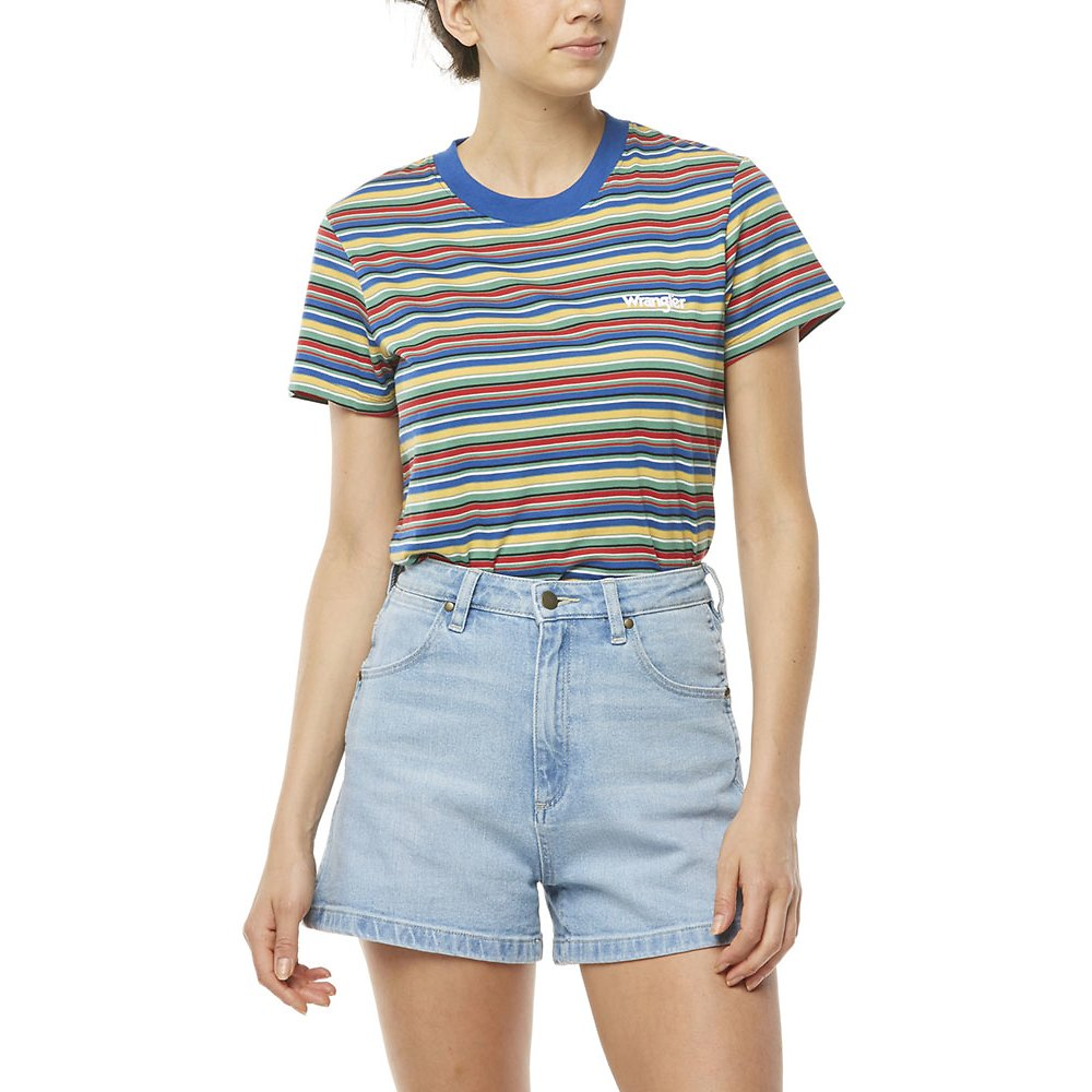 Image of Wrangler Multi Stripe Classic Tee Multi Stripe
