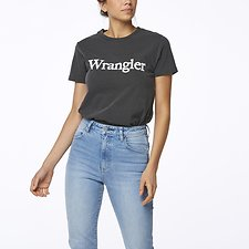 Image of Wrangler Faded Black Topanga Tee Faded Black