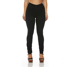 Image of Wrangler Stellar New Black Hi Pins Jean Stellar New Blk