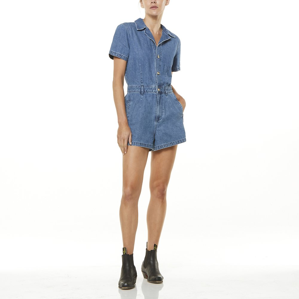ffdc54b3433 Image of Wrangler Denim Daze Bandit Romper Denim Daze