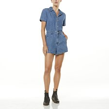 Image of Wrangler Denim Daze Bandit Romper Denim Daze