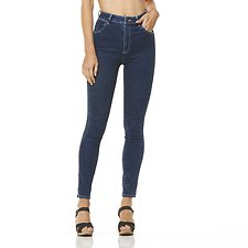 Image of Wrangler All Day Blue Hi Pins Jean All Day Blue