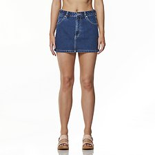 Image of Wrangler Broken Stoned Straight Mini Skirt Broken Stoned