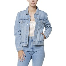 Image of Wrangler Faded Blue Trucker Jacket Faded Blue