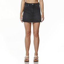 Image of Wrangler Black Pepper Repair Mini Skirt Black Pepper