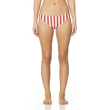 Picture of Stripe Elle Bikini Bottom Red/White