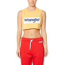 Image of Wrangler Yellow/White Wrangler Sport Tank Yellow/White