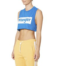 Image of Wrangler White/blue Wrangler Sport Tank White/Blue