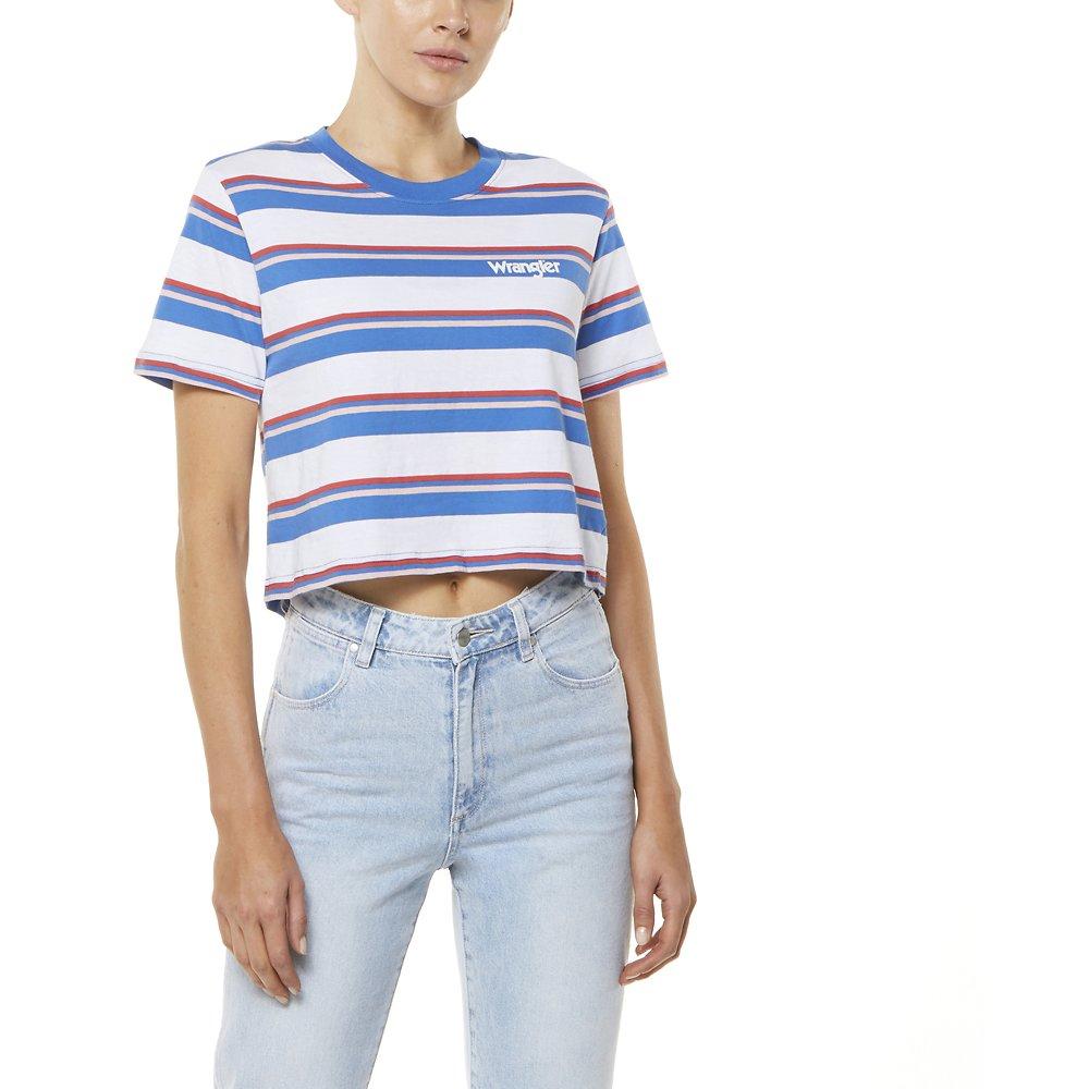 Image of Wrangler Summer Stripe Cecilia Stripe Tee Summer Stripe