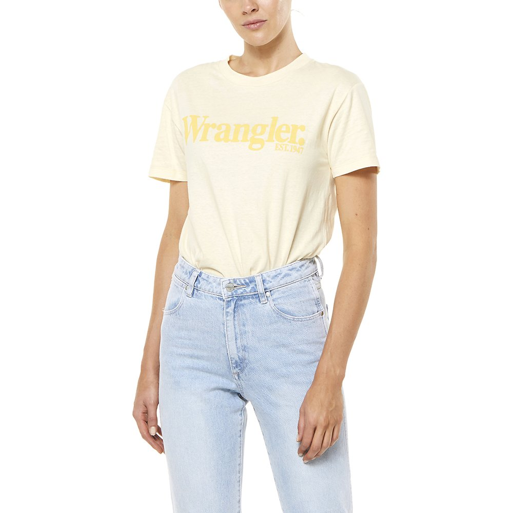 Image of Wrangler Faded Sun Light's Logo Tee Faded Sun