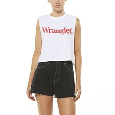 Image of Wrangler White Lights Logo Tank White