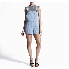 Image of Wrangler Sweet City Short Overalls Sweet City