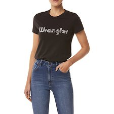 Image of Wrangler Worn Black City Limits Tee Worn Black