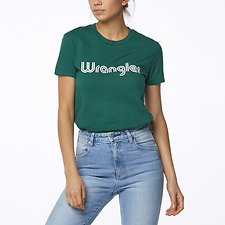 Image of Wrangler Green Blue City Limits Tee Green
