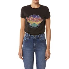 Image of Wrangler Worn Black Established Tee Worn Black