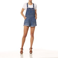 Image of Wrangler Blue Haze Short Overalls Blue Haze