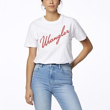 Image of Wrangler White/Red Night Lights Tee White/Red