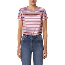Image of Wrangler Lilac Stripe Summer Wine Tee Lilac Stripe