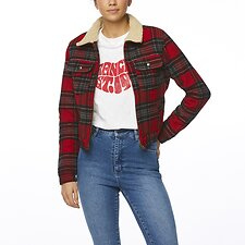 Image of Wrangler Red Check Lita Jacket Red Check