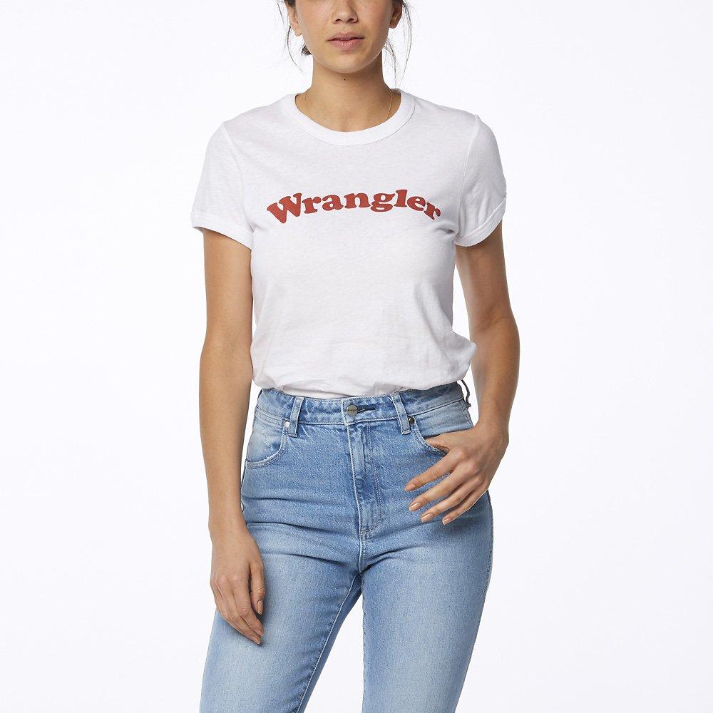Image of Wrangler White Revel Ringer Tee White