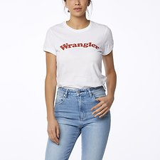 Image of Wrangler White Revel Ringer Tee White