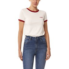 Image of Wrangler White/Cherry Tate Ringer Tee White/Cherry