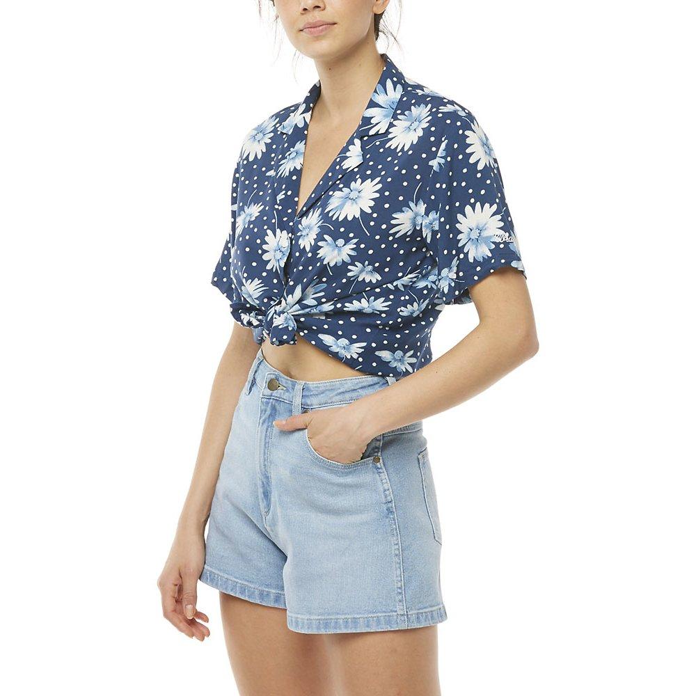 Image of Wrangler Blue Floral Kokomo Shirt Blue Floral