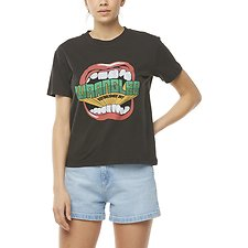 Image of Wrangler Worn Black Shout Tee Worn Black