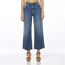 Image of Wrangler Lady Starlight Hi Bells Cropped Jean Lady Starlight
