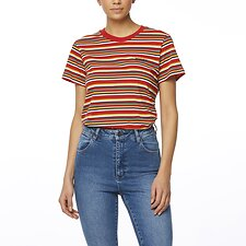 Image of Wrangler Multi Stripe Patti Tee Multi Stripe