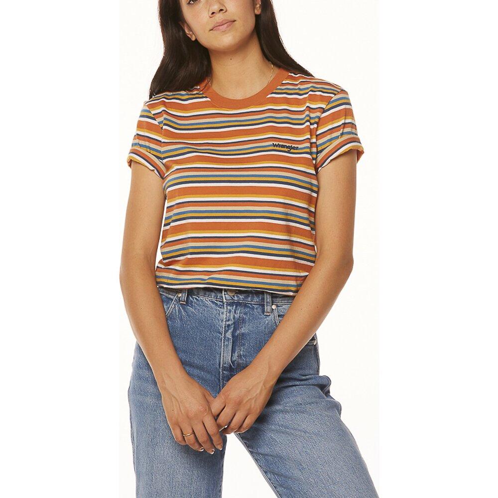Image of Wrangler Rust Stripe Patti Tee Rust Stripe