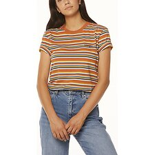 Image of Wrangler Rust Stripe Patti Tee Rust Stripe