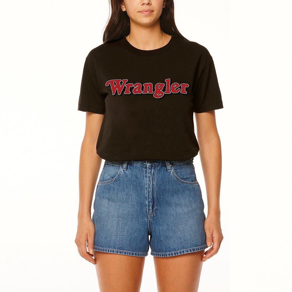 Image of Wrangler Worn Black Ziggy Tee Worn Black