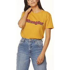 Image of Wrangler Black Stripe Ziggy Tee Vintage Gold