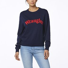Image of Wrangler Navy/red Revel Sweater Navy/Red