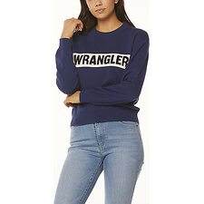 Image of Wrangler Vintage Navy Riva Panel Sweater Vintage Navy