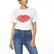 Image of Wrangler White Lips Tee White