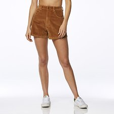 Image of Wrangler Toffee Cord Hi Bells Short Toffee