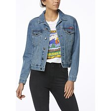 Image of Wrangler California Blue Dazed Jacket California Blue
