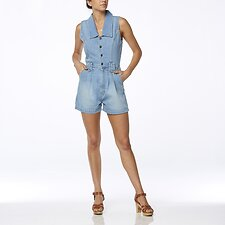 Image of Wrangler Lakes Blue Sable Romper Lakes Blue
